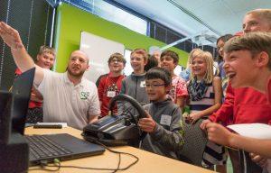 Teaching kids safety through driving simulation