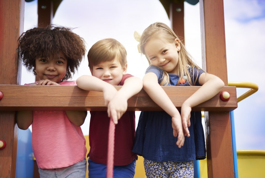 Group of kids on the playground