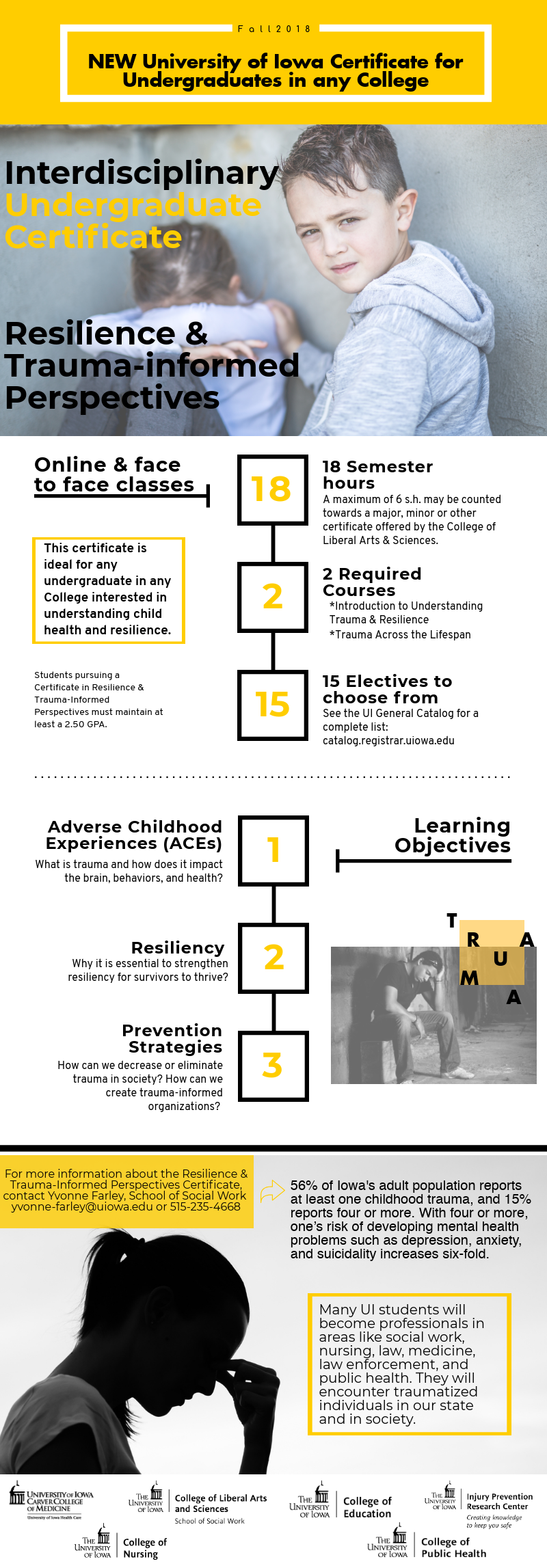 University of Iowa Certificate in Resilience & Trauma-Informed Care