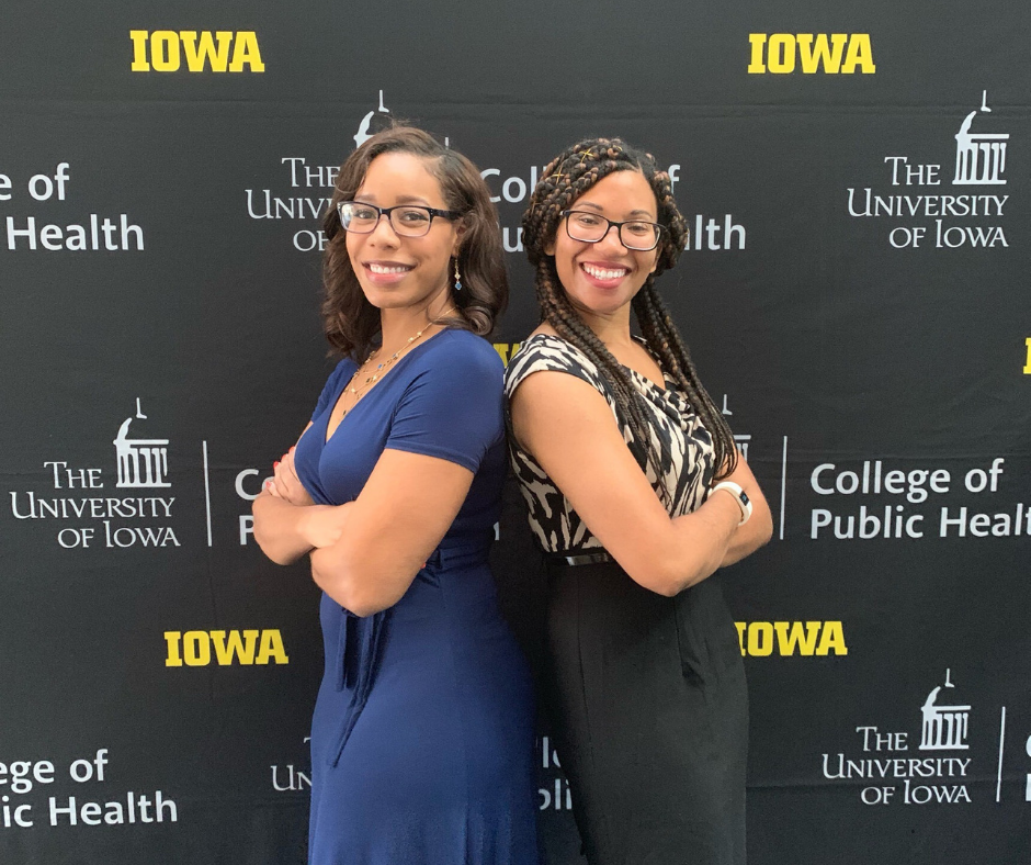 Robyn Espinosa and Chelsea Hicks at the UI College of Public Health