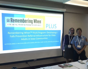 RW-PLUS Project Coordinator Rebecca Bucklin (left) and Firefighter Julie Popelka (right).