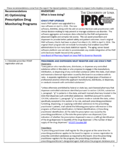 UI IPRC Inventory of Iowa Opioid Policies and Programs